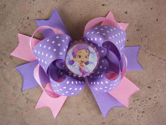 Bubble Guppies Inspired Hair Bow - Can Be Any Character from the Show